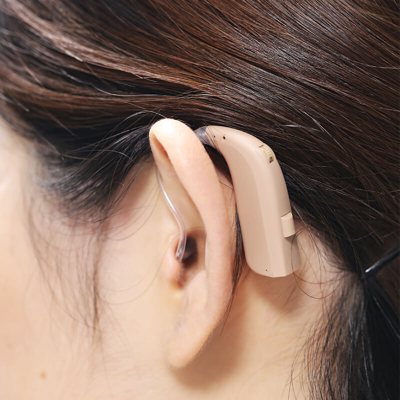 wear photo of vasto hearing aid