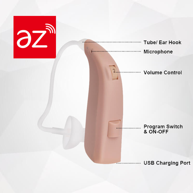 Digital Rechargeable BTE Hearing Aid_Vast