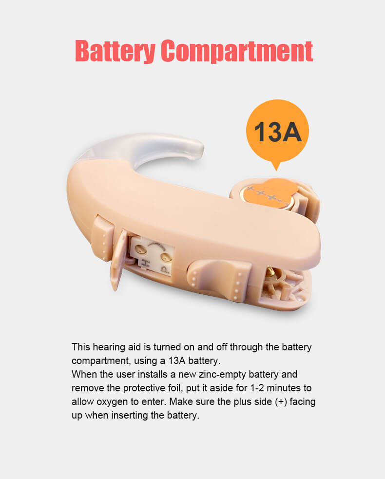 Voz-13A hearing aid battery
